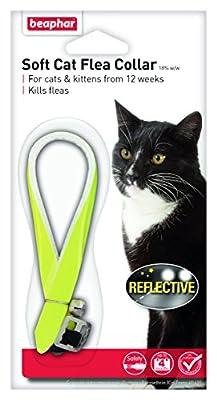 Beaphar Cat Flea Reflective Collar, Pack of 2, Yellow