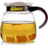 Tea Kettle, YIFAN 65 oz Stovetop Glass Kettle Heat-resistant Healthy Coffeepot for Gas Stove Radiant Cooker