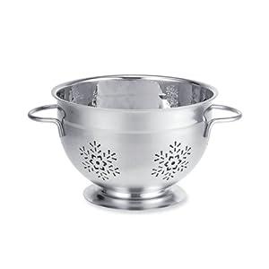 Supreme Housewares Stainless Steel Colander, Large, Snowflake