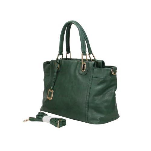 B8594 MyLUX Unique Limited Close Out High Quality Women/Girl Fashion Designer Work School Office Lady Student Handbag Shoulder Bag Purse Totes Satchel Clutches Hobos (green)