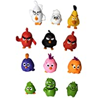 Angry Birds Movie Mini Figure Toys Cake Toppers 12 Pcs A Set Mini Model Height 3 5cm