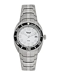 OMAX ANALOG STAINLESS STEEL WHITE DIAL WATCH FOR MEN (MONTRES OMAX S.A. - A SWISS WATCH COMPANY) ...