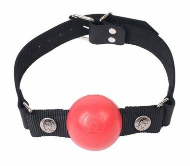 Nickel Free Silicone Ball Gag Large Red (Package Of 3)