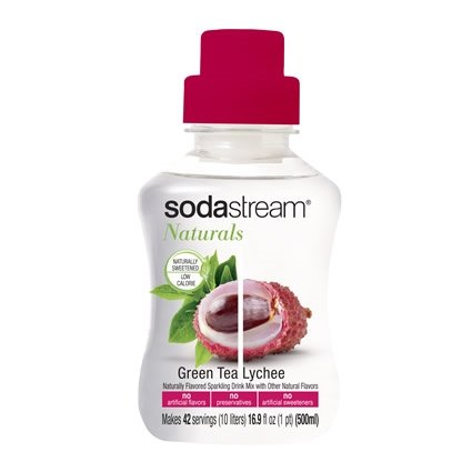 Sodastream Naturals Green Tea Lychee Soda Mix - Pack Of Five 500Ml Bottles - New Flavor!
