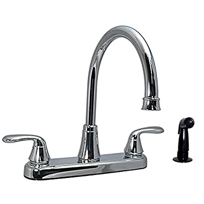 Phoenix PF231301 Two-Handle Kitchen High-Arc Faucet, Chrome with Side Sprayer