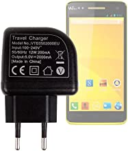 DURAGADGET Two-Pin EU Mains Charger With LED Light Feature For Wiko Rainbow Excelvan 73939 Android 4