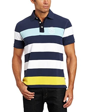 Nautica Men's Cast Away Polo, Lapis, Small