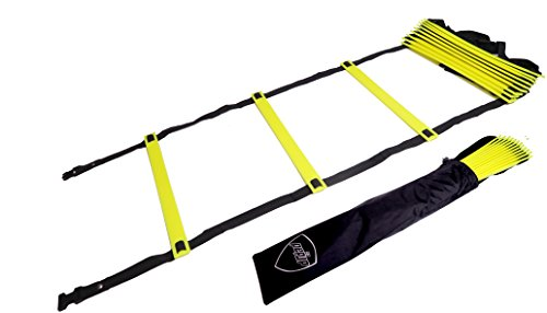 Pepup Sports Super Flat 10 Rungs Adjustable Speed Agility Ladder with Free Carry Bag, 13'