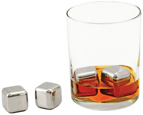 True Fabrications Mazaro Drink Cooling, Stainless Steel, Glacier Rocks For Whiskey And Other Liquors - Set Of 6 front-515979