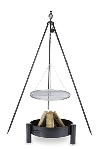 Schwenkgrill mit Dreibein Royal, Rost 70 cm aus Edelstahl, Feuerschale #33 80 cm jetzt kaufen