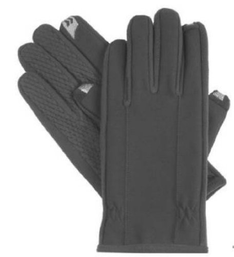 Isotoner Men's Smartouch Fleece Lined Glove,Black,X-Large