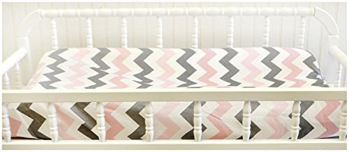 My Baby Sam Chevron Baby in Pink Changing Pad Cover - Pink