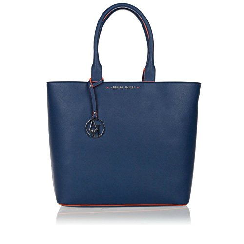 ARMANI JEANS Borsa Shopping Donna Ecopelle Astuccio Blu 0524Z V6