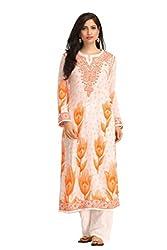 ADA Handmade Designer Chikan Collection Ethnic Cotton Kurti Kurta A116446