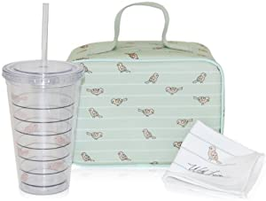 xo(eco) by BlueAvocado Lunch Kit with Lunch Case, Sage Birds