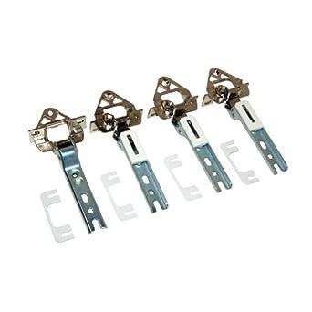 4x Scharnier Türscharnier Kühlschrank 00268700 wie Bosch Siemens Neff Constructa