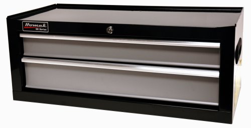 HOMAK BG03027203 27-Inch SE Series 2-Drawer Mid-Chest - Black/Gray