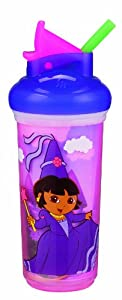 Munchkin Dora the Explorer Insulated Straw Cup, 9 Ounce, Colors May Vary