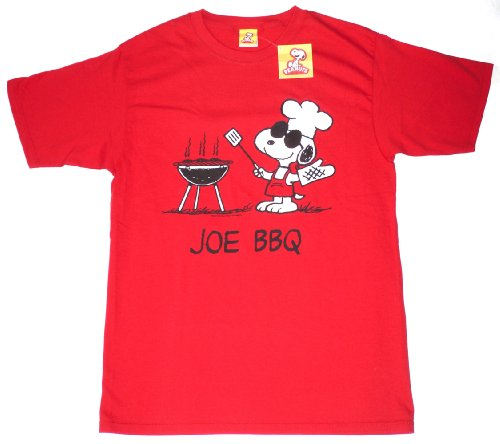 Peanuts Snoopy Joe Cool BBQ Men's Tee, Red