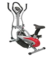 Get FoxHunter Pro Elliptical Cross Trainer Exercise Bike Fitness Cardio Body Workout Indoor Gym Machine With Seat Red New On sale-image