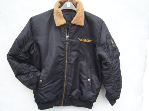 Brand new mens black aviator flying jacket bomber quilted coat coats Medium M 38 40 42