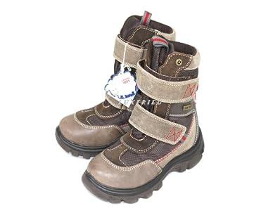 NATURINO Kinderschuhe Jungs Schuhe Winterstiefel Klett Shoe 9103 braun Gr.28