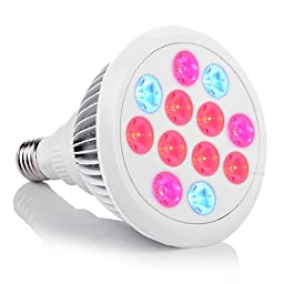 LED Grow Light, InaRock 24W Plant LED Grow Light E27 Plant Bulbs for Garden Greenhouse and Hydroponic Full Spectrum Grow LED Lamps