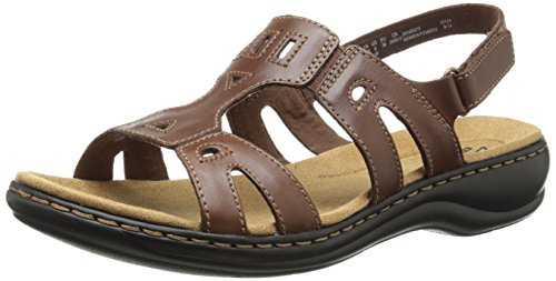 Clarks Women's Leisa Annual Espadrille Sandal, Brown, 8 M US