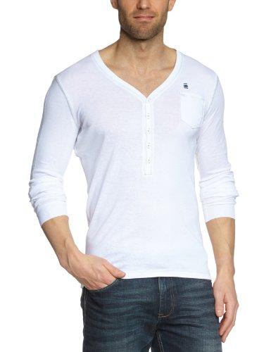 G-Star Raw RCT Seyford V Granddad T Longsleeve Men's T-Shirt White Medium - 21.131.84953A.4835.110.0.M