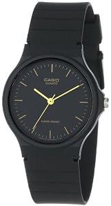 Casio Men's MQ24-1E Black Resin Quartz Watch with Black Dial