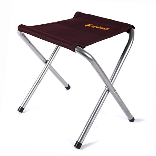 Ezyoutdoor Portable Folding Chairs Aluminium Alloy Seat Stool Holds Up to 220 lb for Camping Fishing Picnic BBQ Hiking Garden Beach (Brown) (Bbq Cover Raiders compare prices)