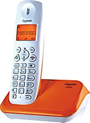 Gigaset A450 White & orange cordless landline phone