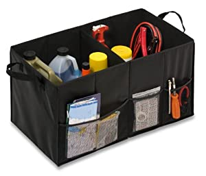 Honey-Can-Do SFT-01166 Soft Storage Chest, Black Folding Trunk Organizer