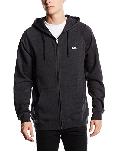 Quiksilver EVERYDAY ZIP M OTLR KVJ6-cappuccio Uomo    Black (Black (Anthracite)) Large