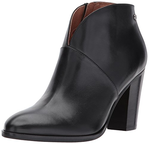 206 Collective Womens Everett Leather High Heel Ankle Bootie, Black, 7 B US