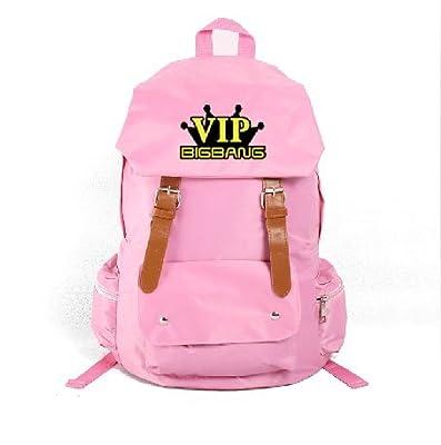BIGBANG VIP Pink Girls School Bag Personalized Multifunction Waterproof Backpack