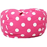 Comfort Research Classic Bean Bag Chair, Candy Pink Polka Dot