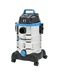 Vacmaster VQ607SFD Stainless Steel Wet/Dry Vacuum, 6 gallon, 3 HP