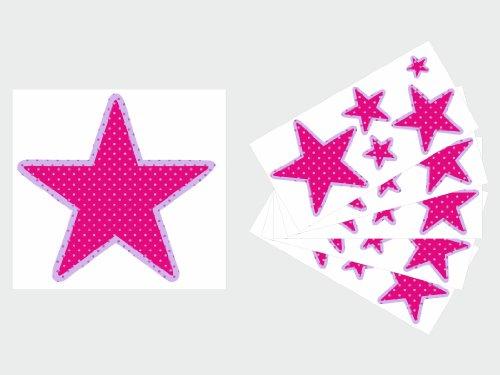 Imagen 3 de Pegatina decorativa con 26 estrellas (1 de 20 cm, 5 de 10, 5 de 7, 5 de 5, 5 de 3, 5 de 2)-Dibujo F8-Variante 5