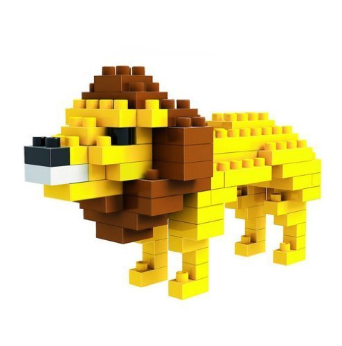 African Lion Toy Building Blocks - 1
