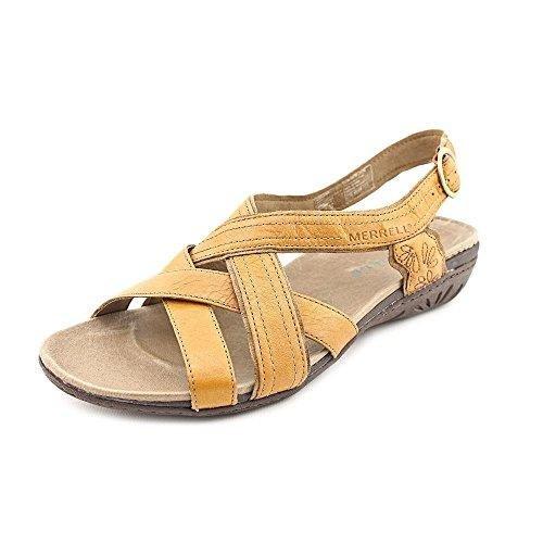 Merrell Bassoon Damen Beige Leder Kleid Sandalen Schuhe Gre Neu EU 36