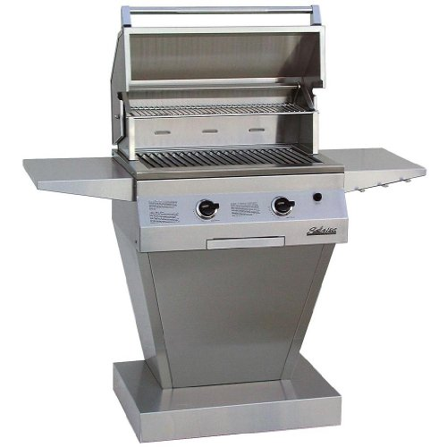 Solaire Gas Grills 27 Inch Deluxe All Convection Natural Gas Grill On Angular Pedestal Base