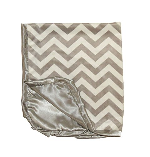 Caught Ya Lookin' Reversible Baby Blanket, Grey and White Chevron