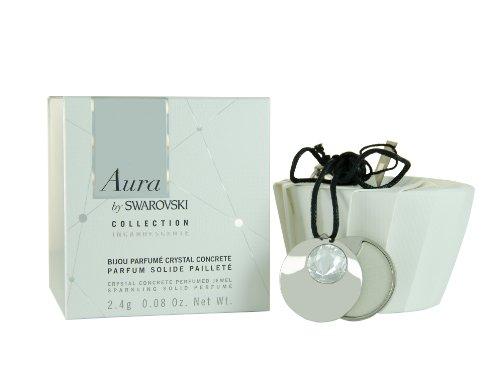 Swarovski Aura, Pendente in cristallo Swarovski con profumo solido da donna, 2,4 g