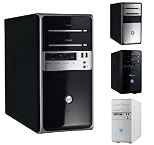 Winsis WN-26 Black / Silver Micro ATX Mini Tower / Computer Case with 350W Power Supply & Card Reader