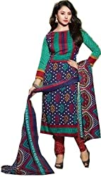 Exquisite & Beyond Womens Pure Cotton Printed Unstitched Salwar Suit _KT-31_Green