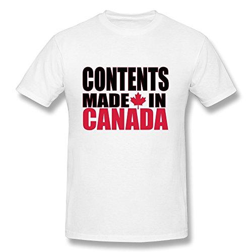 ZWSY Men's T-shirt Contents Made CANADA Size M White (Advanced Warfare Content compare prices)