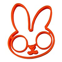 1 PCS Orange Silicone Bunny Cartoon Fried Fry Egg Frame Breakfast Mold Kitchen Tool Egg and Pancake Rings