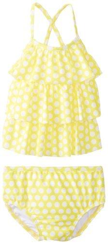 Carter Stivaletti da bambina a pois Tankini, confezione da 2, Giallo, 12mesi, colore: giallo, taglia: 12mesi (Baby/Babe/Infant-Little Ones)
