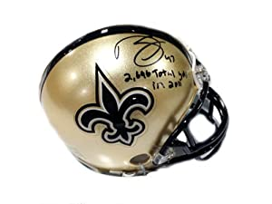 Darren Sproles Hand Signed New Orleans Saints Mini Helmet Record Inscription by The Sports Mix